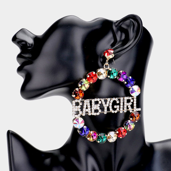 BABYGIRL Prism Hoop Earrings
