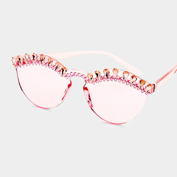 Rose Pink Winky Sunglasses