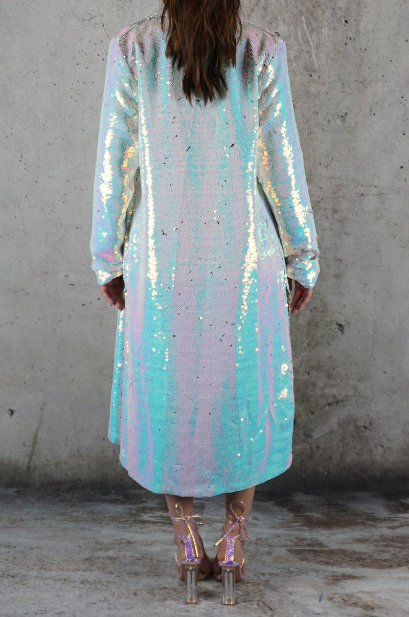 To The Moon And Back Sequin Duster Jacket