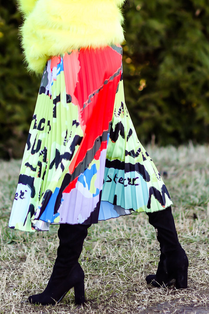 Neon Abstract Skirt