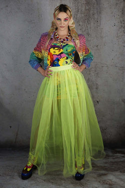 Electric Sunshowers Tulle Skirt