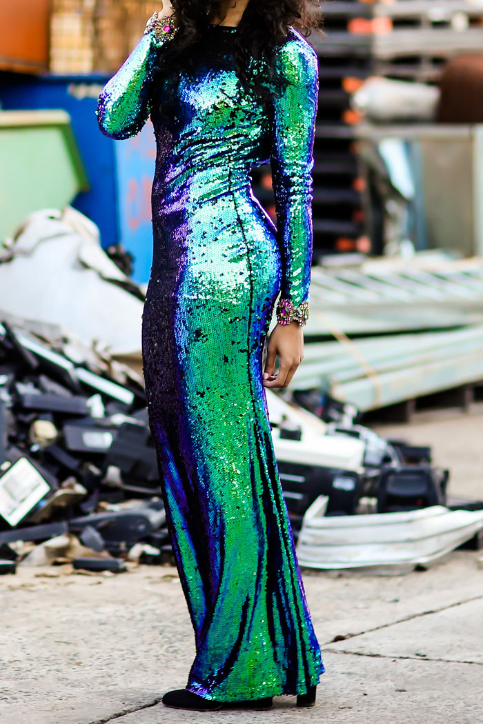 Paint The Town Emerald Dress