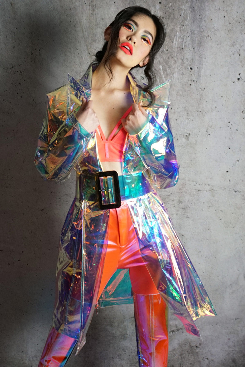 Iridescent Spring Showers Raincoat
