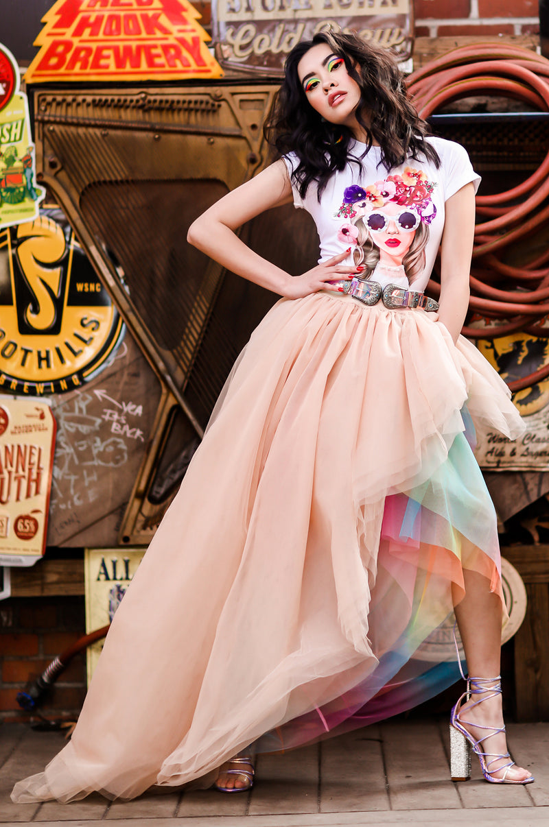 Fairyland Nude Tulle Skirt