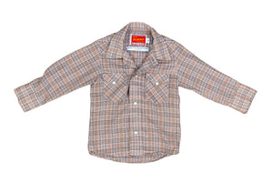 KID'S BEIGE PLAID SHIRT