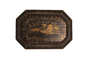 chinoserie lacquered box