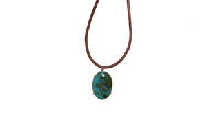 ANTIQUE TURQUOISE PENDANT NECKLACE