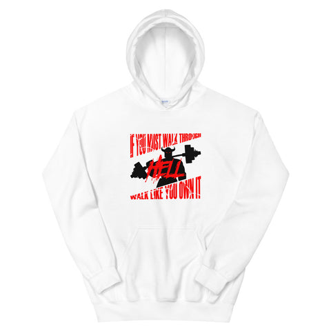Walk Through Hell Workout Hoodie-Sweatshirt-Burly American Trading Company