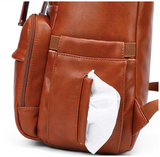 Olivia Leather Diaper Backpack