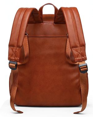 Olivia Vegan Leather Diaper Backpack