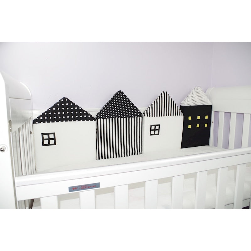 "Baby Crib Bumper ""Houses"" by Olly&Owl"