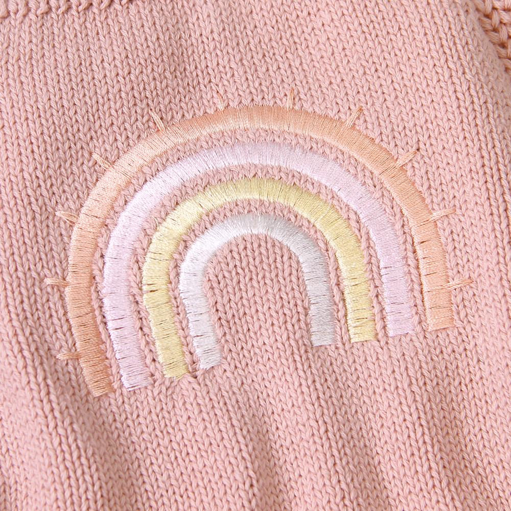 Rainbow Knitted Romper