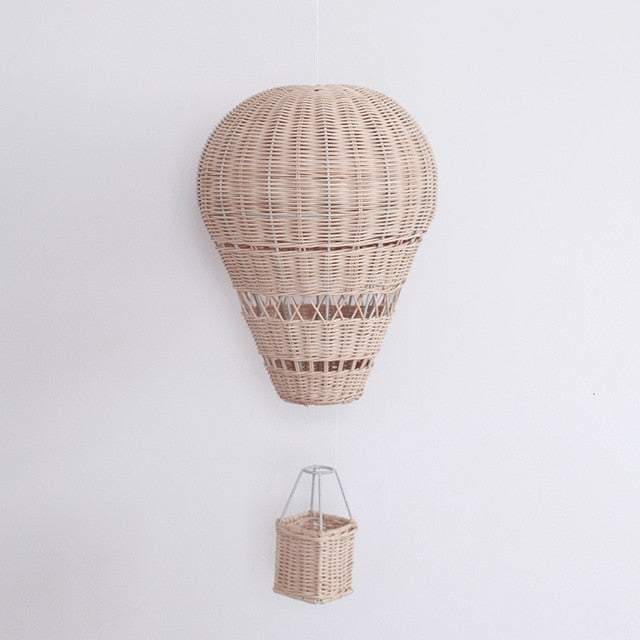 Nursery Rattan Air Balloon Decoration