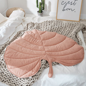 Nordic Leaf Rug For Baby Nursery