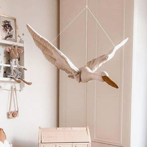 Flying Swan Plush Nursery Decoration