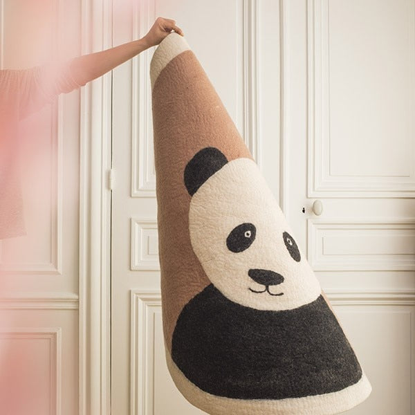 "Nordic Round Rug For Nursery Room ""PANDA"""