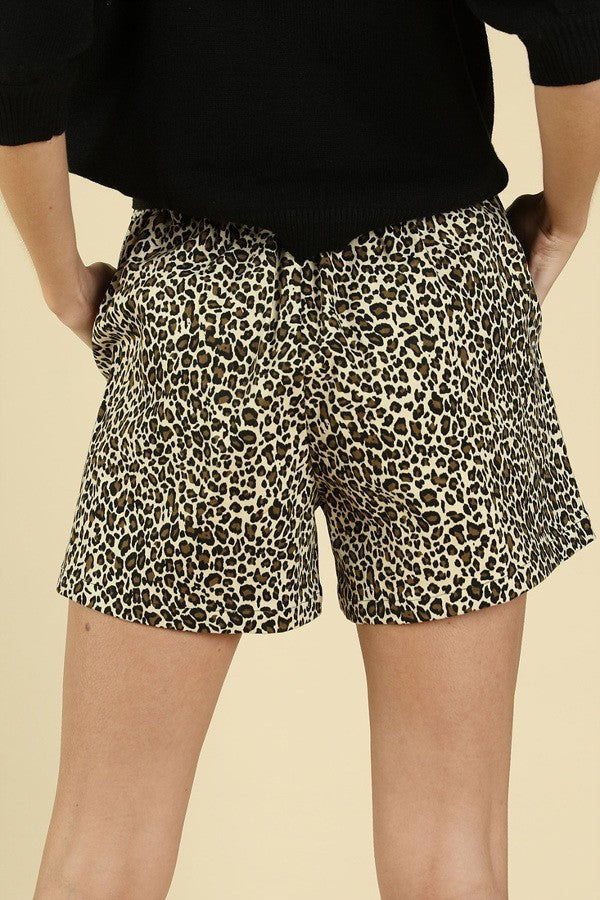 Cheetah paper bag shorts