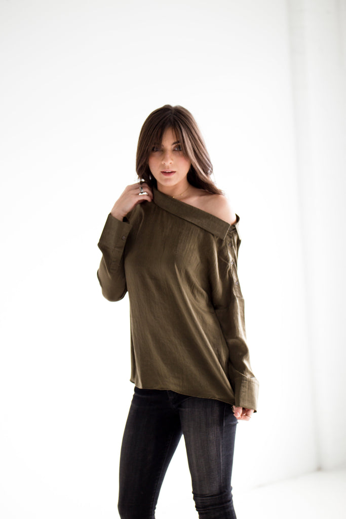 Olive one Shoulder