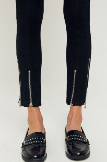 Black Zipper Jeans