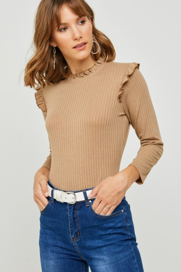 Chesnut Ruffle Top