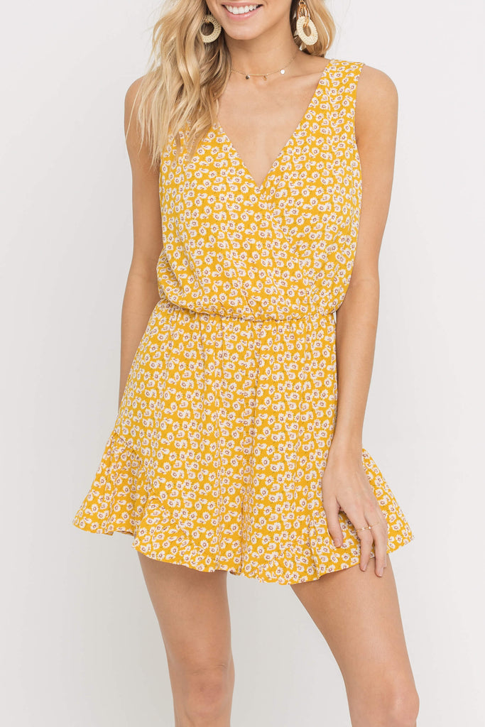 Yellow Spring Time Romper