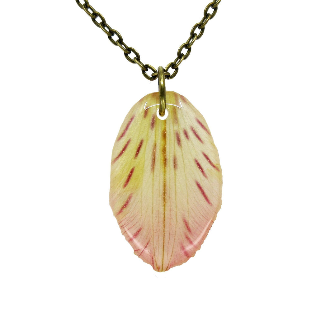 Alstroemeria Petal Necklace - Luna's Secret Garden