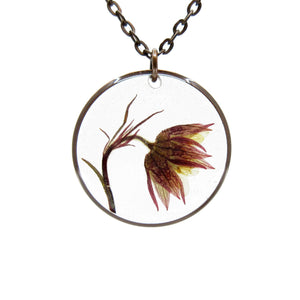 Avens Necklace Real flower leaf botanical jewelry Necklace Luna's Secret Garden