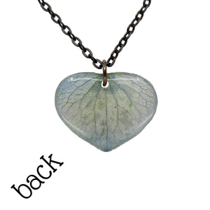 Blue Hydrangea Petal Necklace - Luna's Secret Garden
