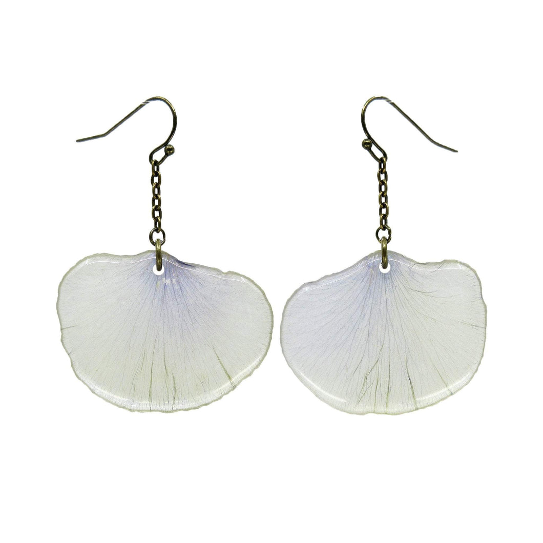 Clear Pansy Petal Earrings - Luna's Secret Garden
