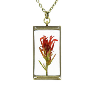 Indian Paintbrush Necklace I - Luna's Secret Garden