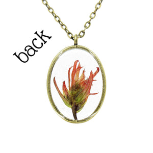 Indian Paintbrush Necklace V - Luna's Secret Garden