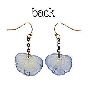 Light Purple Pansy Petal Earrings - Luna's Secret Garden