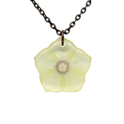 Phlox Necklace - White/Purple - Luna's Secret Garden