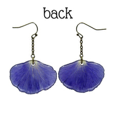 Purple Pansy Petal Earrings - Luna's Secret Garden