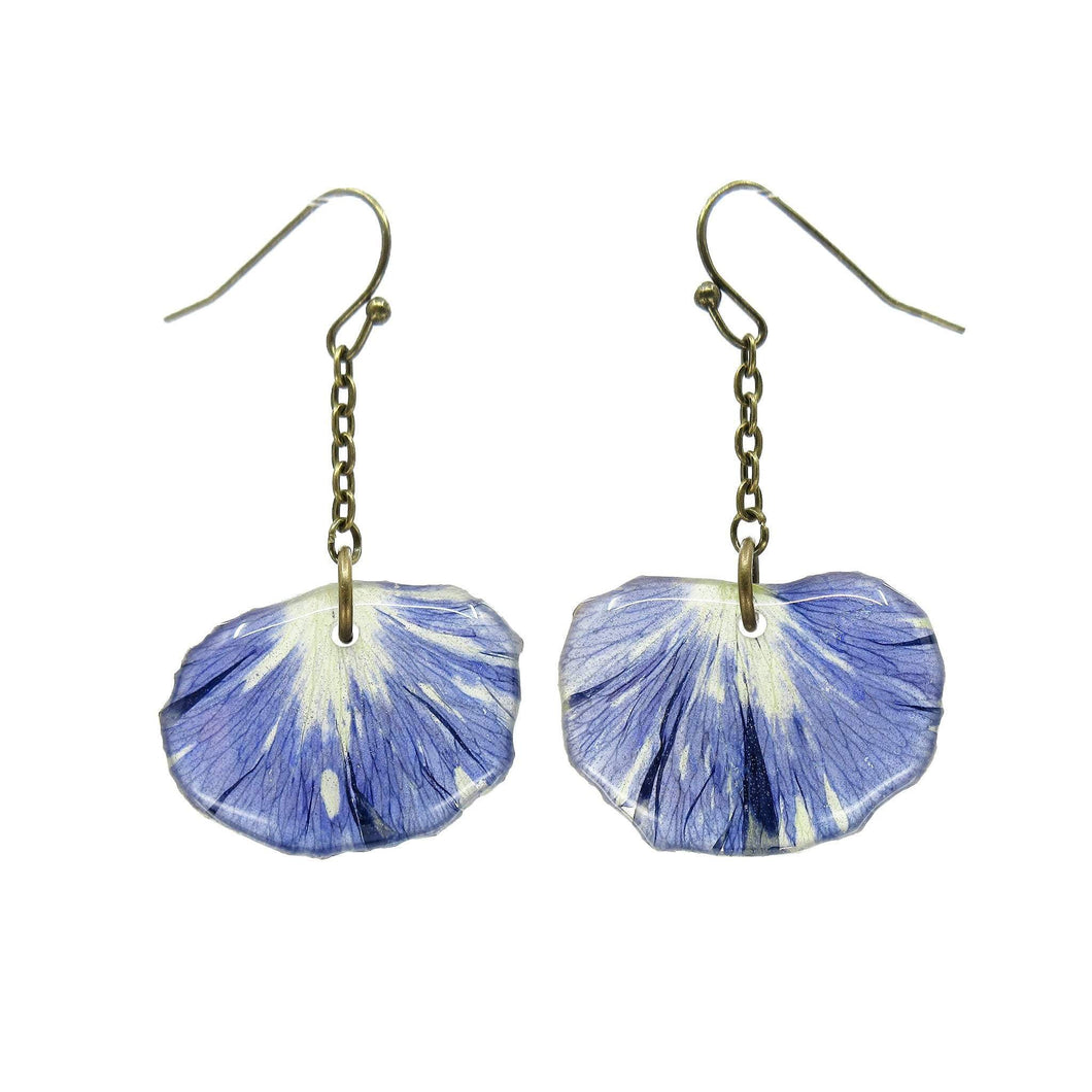 Purple Spray Pansy Petal Earrings - Luna's Secret Garden