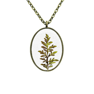 Purple Wild Grass Necklace - Luna's Secret Garden