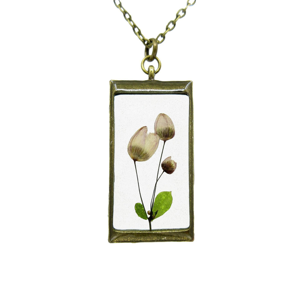 Splendide Necklace Real flower leaf botanical jewelry Necklace Luna's Secret Garden