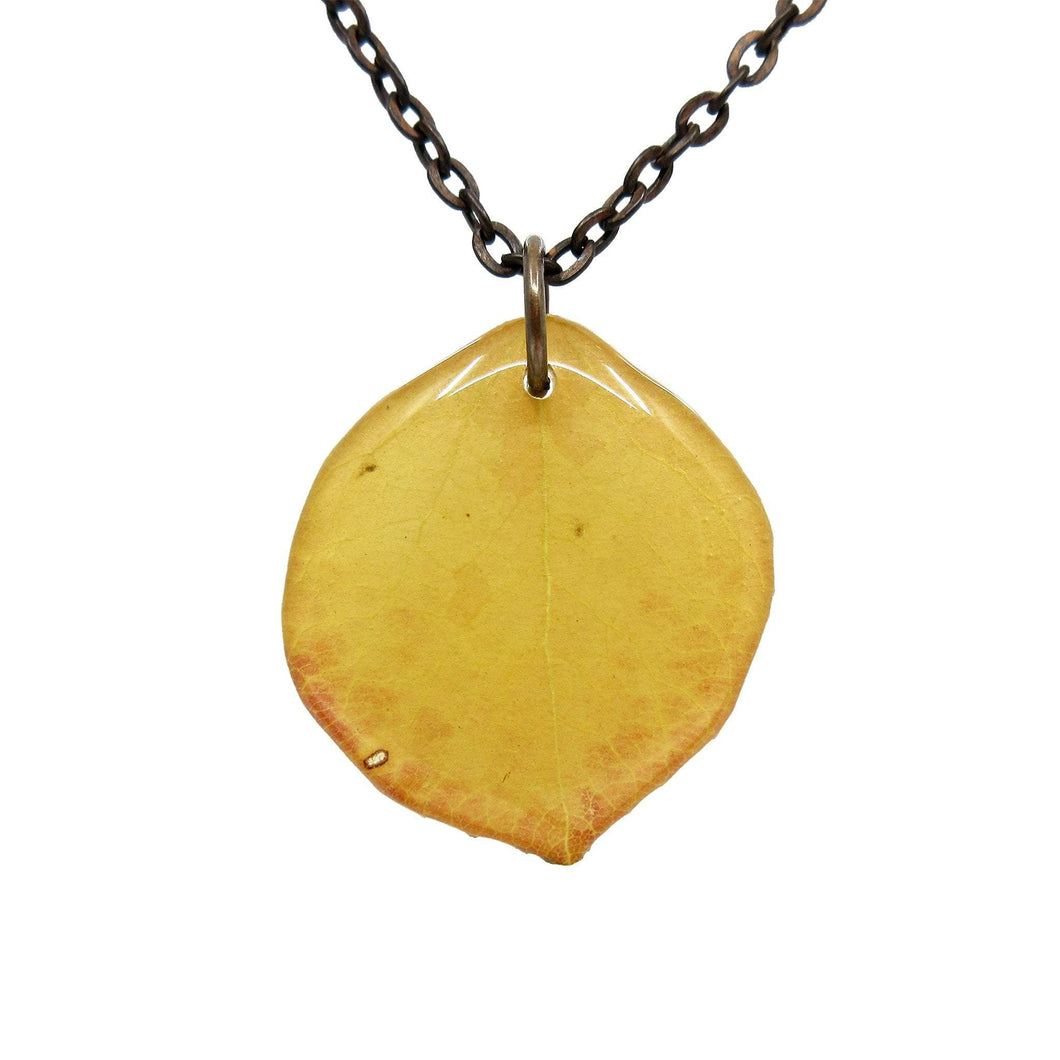 Yellow Aspen Leaf Necklace - Luna's Secret Garden