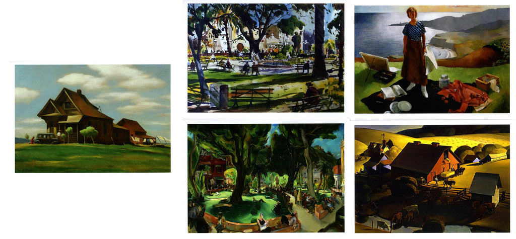 California Scene Painting Notecards