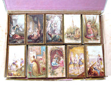 Rare, English, 19th Century George Baxter Regal Needle Box Set