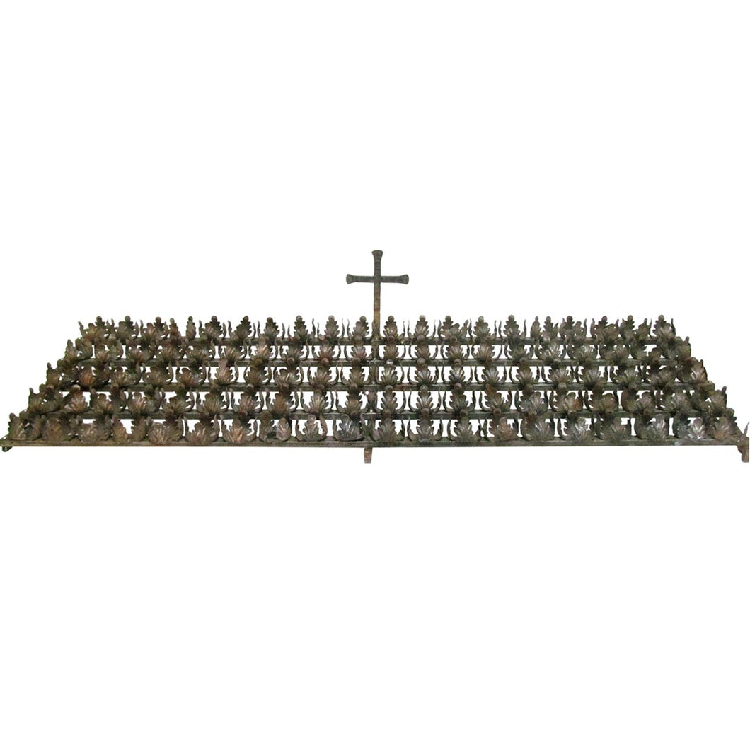 Early 20th Century French Metal Altar Rack with Leaf Clusters