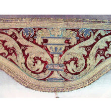Italian 17th Century Amice Embroidered with Silk and Metal Threads