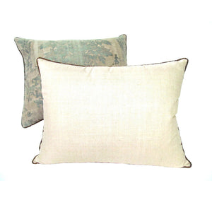 "Pair of Early 1920's Fortuny ""Boucher"" Pattern in Sage Green with Natural Overlay"