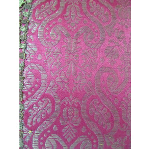 Italian 19th Century Silk Brocade with Silver Metallic Threads