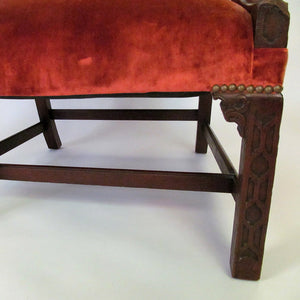 English George III Mahogany Gainsborough Library Chair