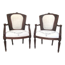 Pair of 18th Century Italian Rococo Fauteuil Chairs with Shell Motif