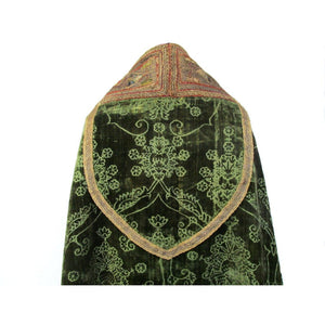 Italian 17th Century Silk Velvet Cope with French 15th Century Orphrey