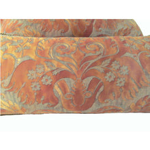 Pair Fortuny 1940's Vintage Pillows in his de' Medici Pattern