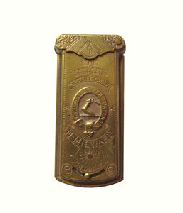 Antique Brass Needle Case made by Avery for H. Milward & Sons