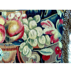 French Beauvais Tapestry Fragment depicting Fruit & Urn